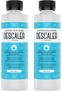 Descaler (2 Pack, 2 Uses Per Bottle) - Made in the USA - Universal Descaling Solution for Keurig, Nespresso, Delonghi and All Single Use Coffee and Espresso